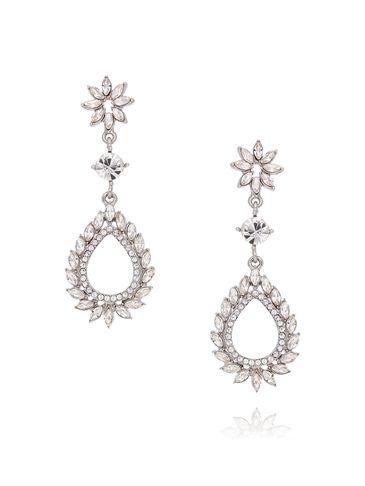Kolczyki srebrne z transparentnymi kryształkami KSS0806