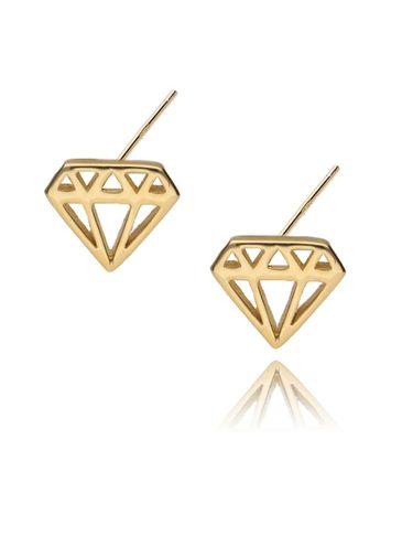 Kolczyki złote diamenty KFA0006