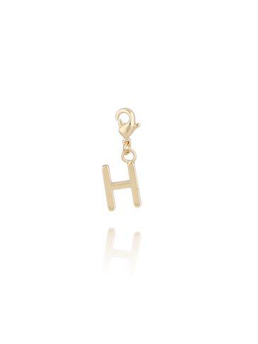 Charms złoty literką H NAT0174