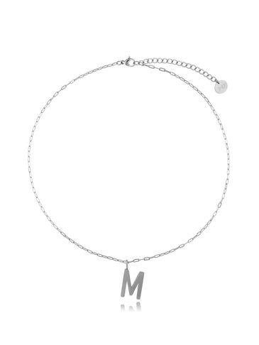 Naszyjnik srebrny z literką M  NAT0200