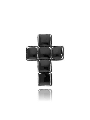 Broszka czarny krzyż BRU0005