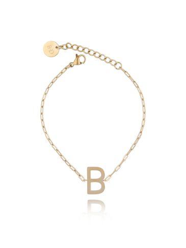 Bransoletka złota z literką B BAT0100