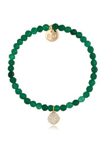 Bransoletka zielona z agatami Dorothy BTW0487