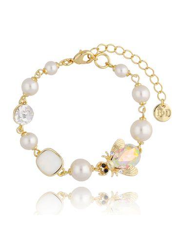 Bransoletka z perłami i owadem BMI0075