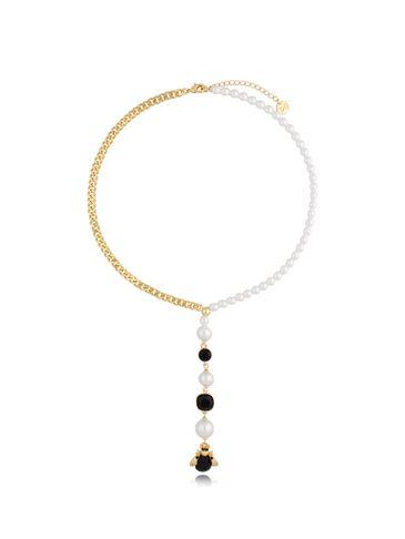 Naszyjnik z perłami i owadem NMI0137