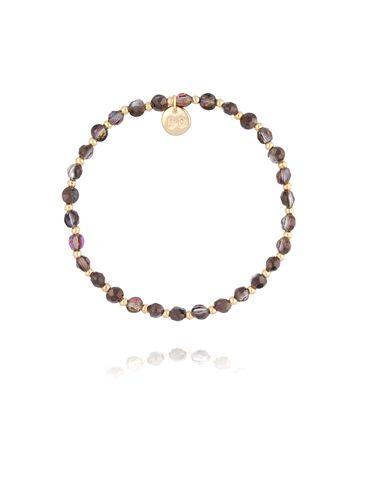 Bransoletka z  brązowych dymnych kryształków BBL0182