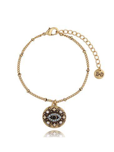 Bransoletka antyczne złoto z zawieszką BRG0205