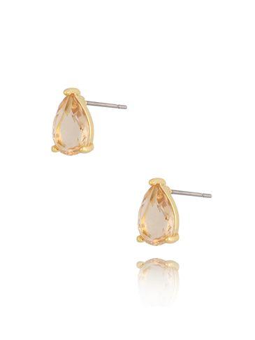 Kolczyki kryształowe jasnobrązowe łezki Emily KTO0017