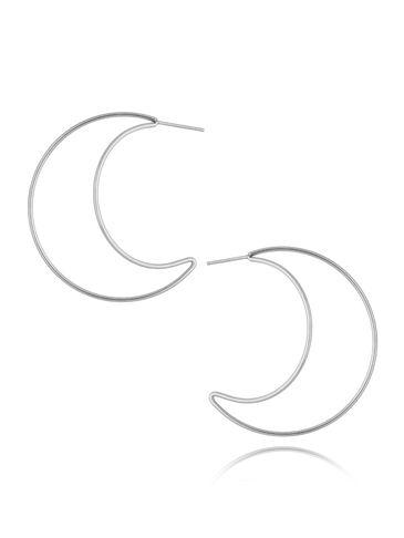 Kolczyki srebrne księżyce ze stali szlachetnej KSA0222