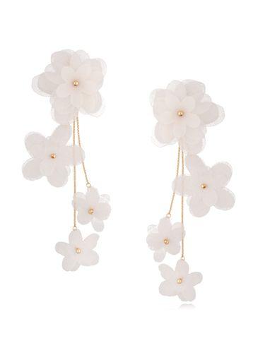 Kolczyki satynowe kwiaty  Blossom Ecru Primerose KBL0872