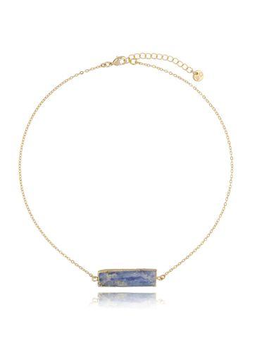 Naszyjnik złoty z szafirem NLB0050
