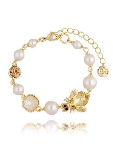 Bransoletka z perłami i owadem BMI0077