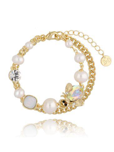 Bransoletka z perłami i owadem BMI0058