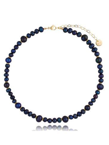 Naszyjnik z ciemnych pereł Pearls&Gold NPE0082