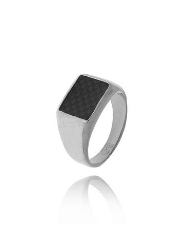 Pierścionek srebrny ze stali szlachetnej PSA0146 Rozmiar 15