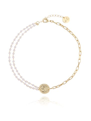 Naszyjnik z monetą i perełkami NRG0129
