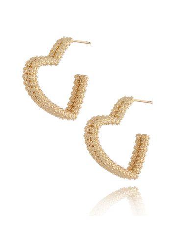 Kolczyki złote serca KRG0625