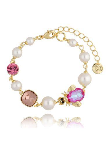 Bransoletka z perłami i owadem Lady BMI0081