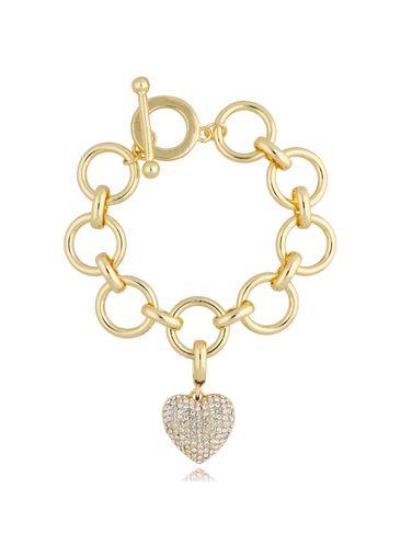 Bransoletka złota z sercem BRG0215