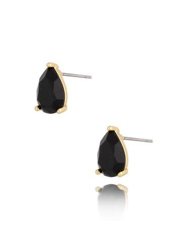 Kolczyki kryształowe czarne łezki Emily KTO0024
