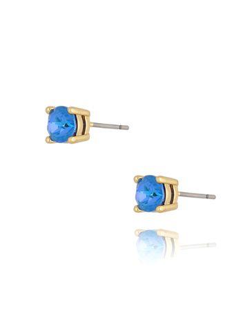 Kolczyki kryształki niebieskie Dot KRG0720