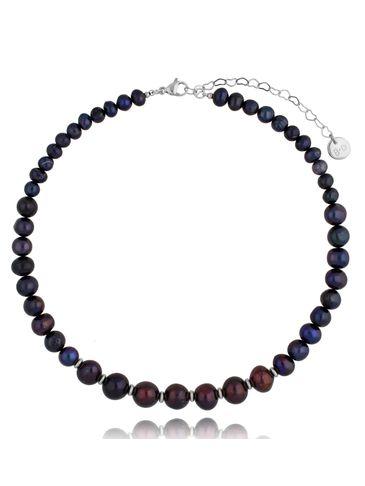 Naszyjnik z ciemnych pereł Sequence Pearls NPE0085