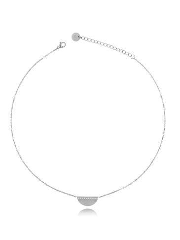Naszyjnik srebrny ze stali szlachetnej Chic NSA0234