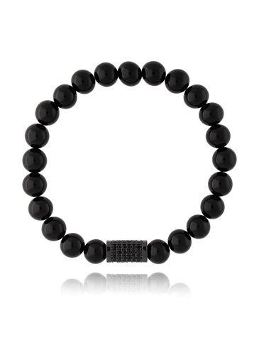 Bransoletka męska czarna BMITC0245