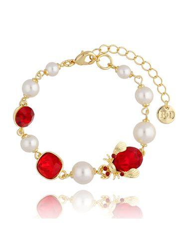 Bransoletka z perłami i owadem BMI0079