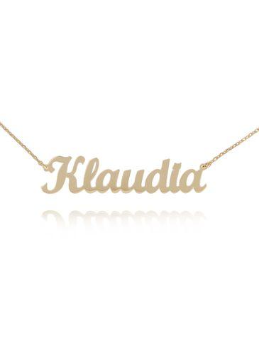 Naszyjnik srebrny pozłacany KLAUDIA NAT0141