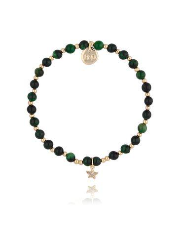 Bransoletka z zielonym tygrysim okiem BTW0289