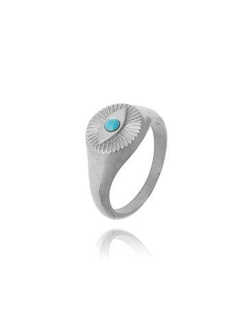 Pierścionek srebrny sygnet ze stali szlachetnej PSA0124 Rozmiar 12