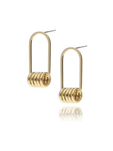Kolczyki złote z kółeczkami KRG0370