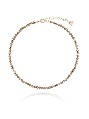 Naszyjnik z brązowo złotymi kryształkami NTW0068