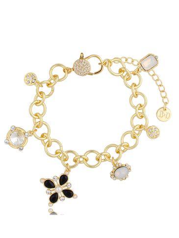 Bransoletka złota bogato zdobiona zawieszkami Lily BRG0220