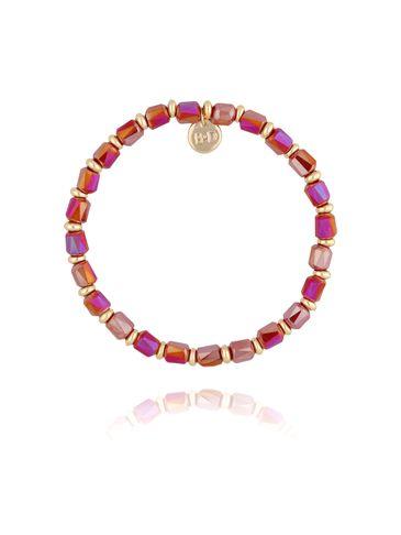 Bransoletka z bordowymi kryształkami BBL0155