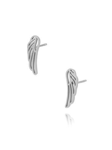 Kolczyki srebrne skrzydełka ze stali szlachetnej KSA0104