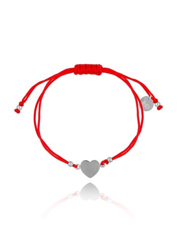 Bransoletka na czerwonym sznurku z sercem BGL0460