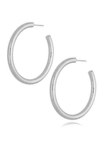 Kolczyki srebrne koła dmuchane KSA0178 45 mm