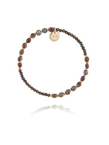 Bransoletka z brązowymi kryształkami BTW0242