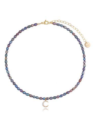 Naszyjnik z szarych pereł Foggy Pearls & Moon NPE0067