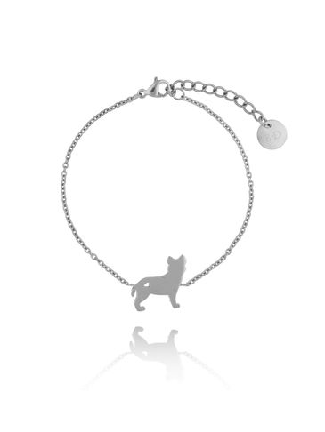 Bransoletka srebrna pies Hercules ze stali szlachetnej BPS0005