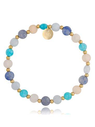 Bransoletka niebieska z sodalitem i kamieniem księżycowym Athena BSC0965