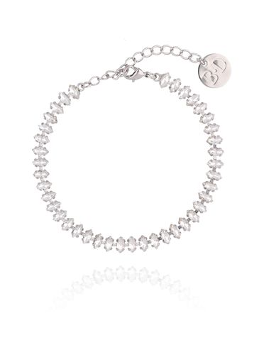 Bransoletka srebrna ze srebrnymi kryształkami BSS0021