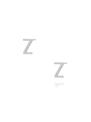 Kolczyki wkrętki z literką Z srebrne KAT0024