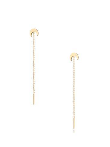 Kolczyki złote wiszące Long Moon KSA0307