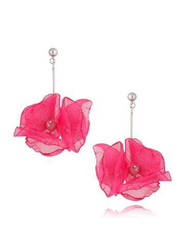 Kolczyki fuksjowe kwiaty KBL0662