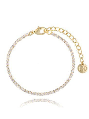 Bransoletka złota z transparentnymi cyrkoniami Claud Dancer BRG0218