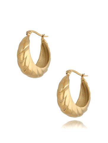 Kolczyki złote ze stali szlachetnej Stephanie KSA0310