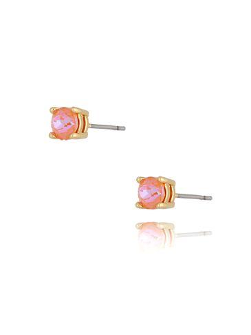 Kolczyki wkrętki z kryształkami brzoskwiniowe KRG0697